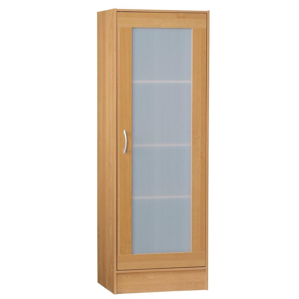 Talon 4-Shelf Single Door Storage Cabinet in Alder