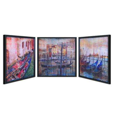 "32 in. x 32 in. ""Gondolas"" Dimensional Kinetic Art"