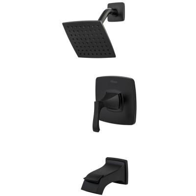 Venturi Single-Handle 1-Spray Tub and Shower Faucet in Matte Black (Valve Included)