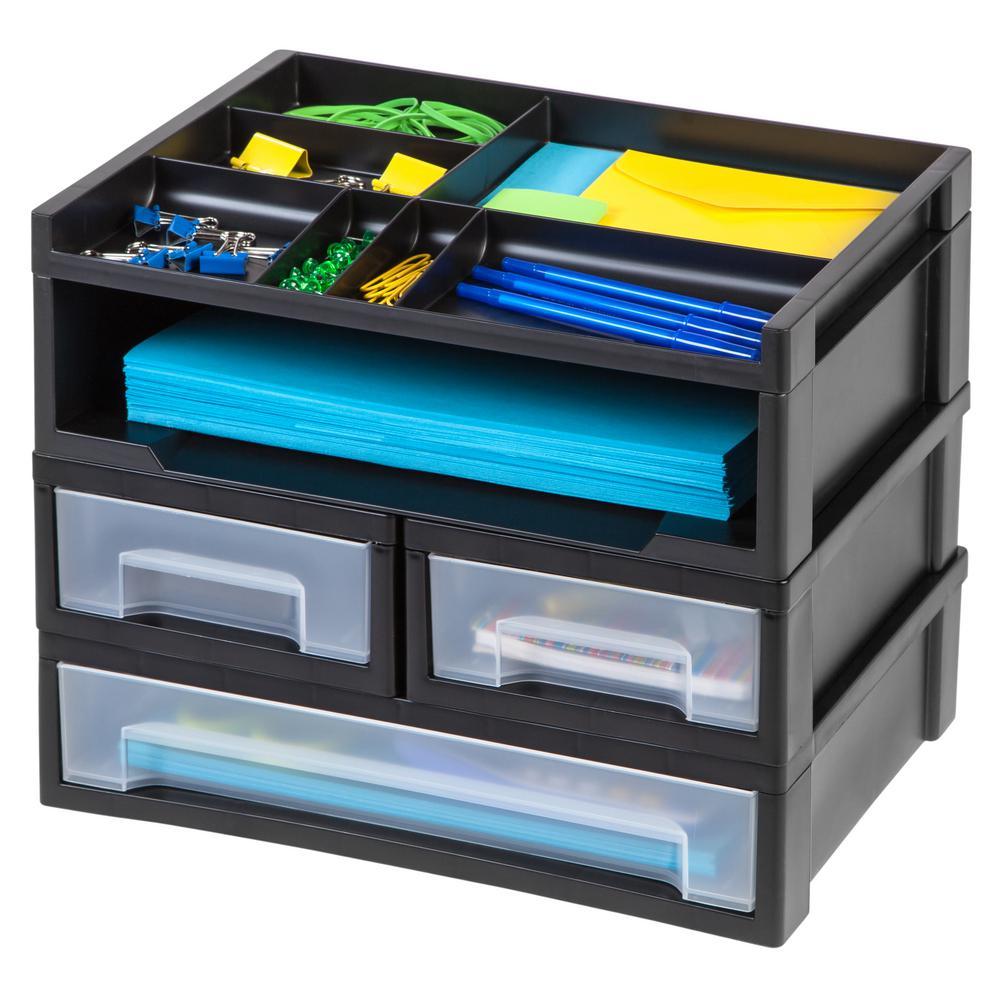 5-Piece Desk Top Organizer in Black