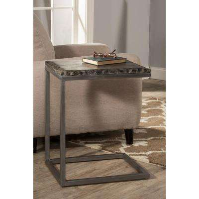 Lorient Washed Charcoal End Table