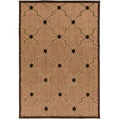 Mount Burbidge Dark Brown 5 ft. x 7 ft. Indoor/Outdoor Area Rug