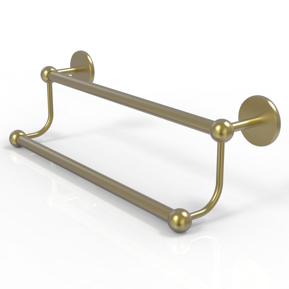 Prestige Skyline Collection 30 in. Double Towel Bar in Satin Brass
