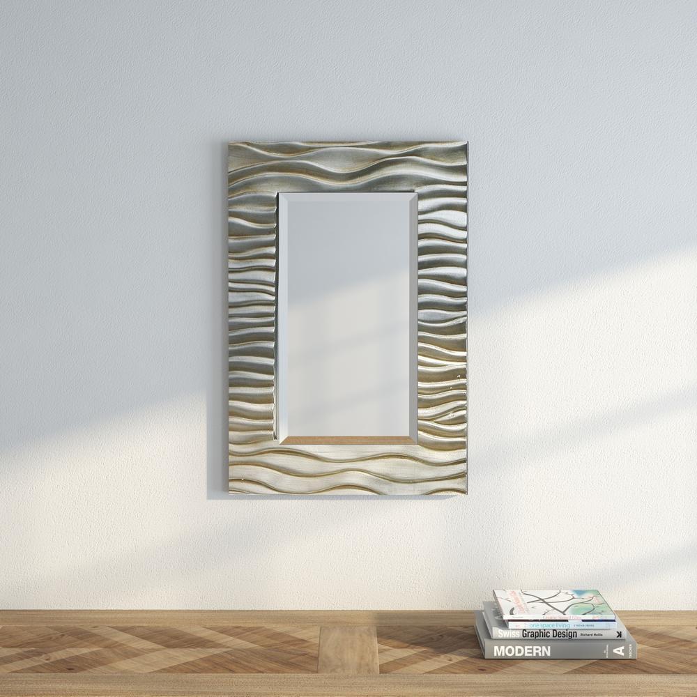 Transcend 28 in. x 19 in. Beveled Mirror