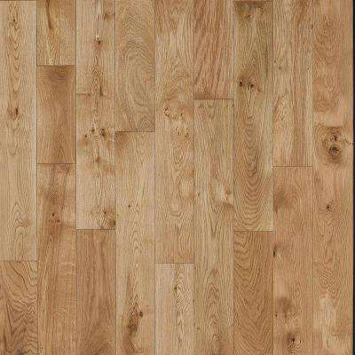 Take Home Sample - French Oak Nougat Click Solid Hardwood Flooring - 5 in. x 7 in.