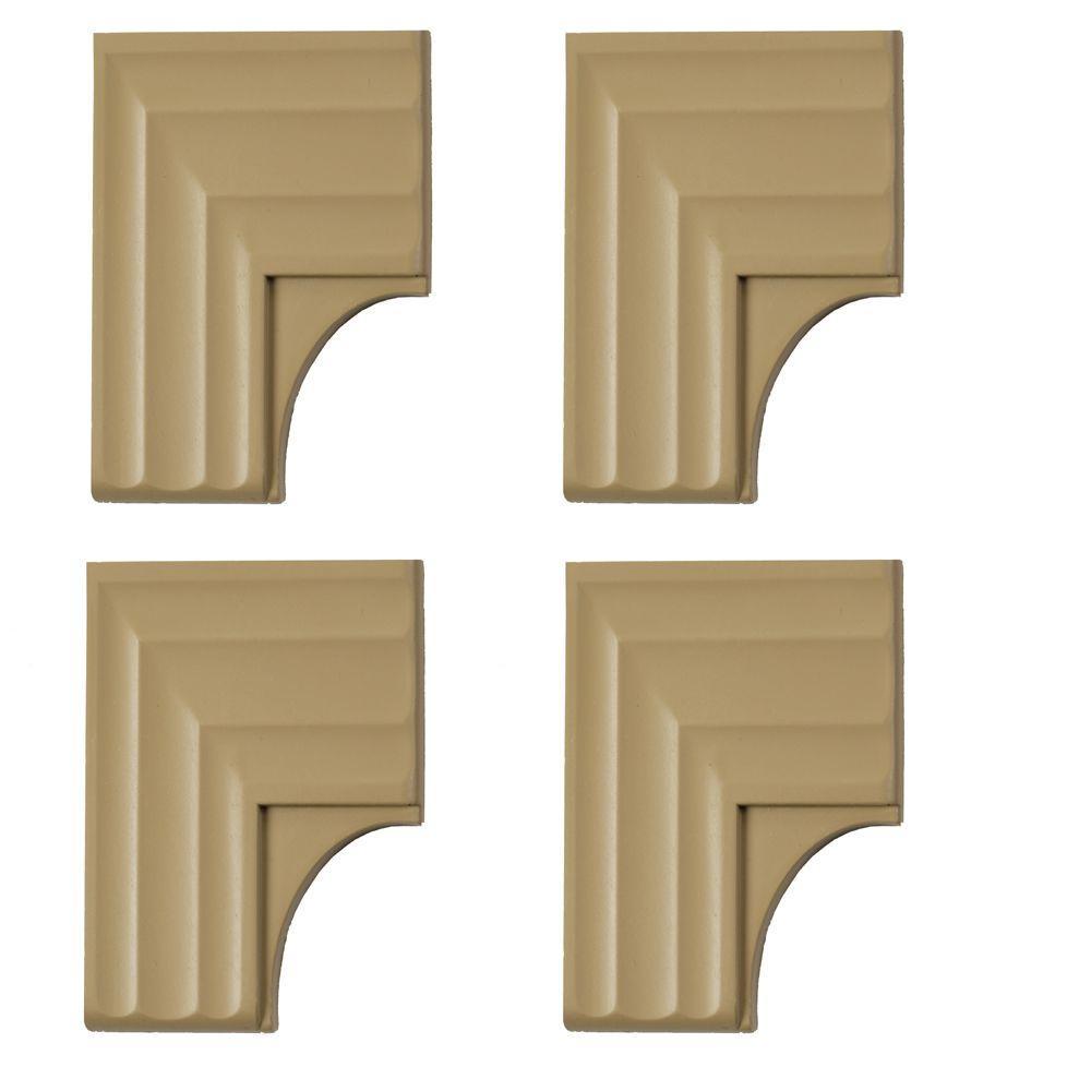 MirrEdge Regal Birch Contemporary Corner Plates (4-Pack)