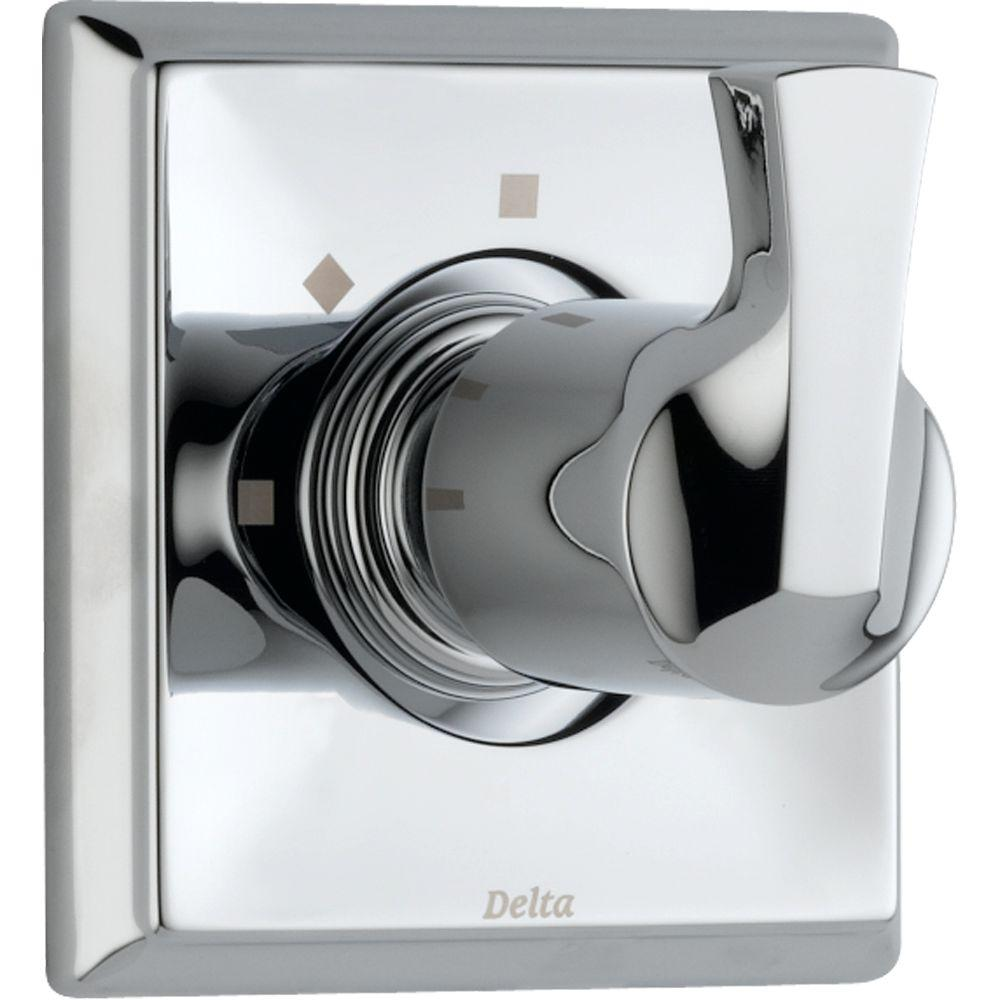 Delta Dryden 1-Handle 3-Setting Diverter Valve Trim Kit in Chrome ...