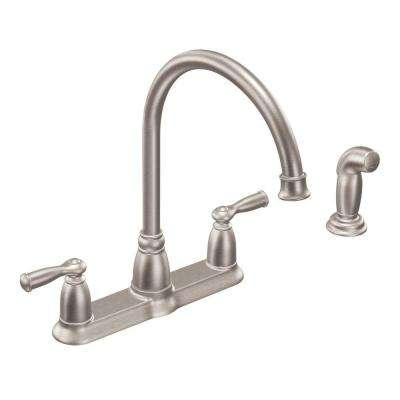 Moen 4 Hole Kitchen Faucets Kitchen The Home Depot