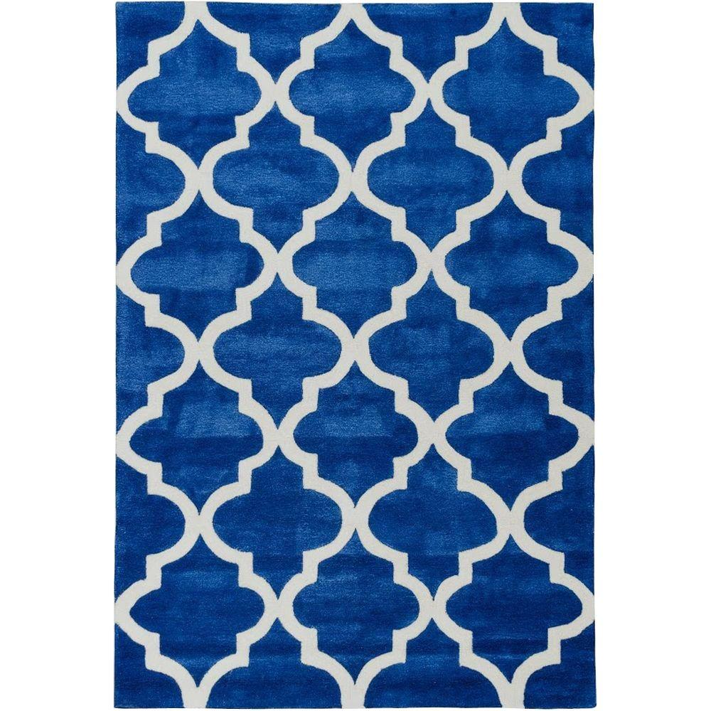 Well Woven Mirage Lattice Navy 5 ft. x 7 ft. 6 in. Modern Area Rug