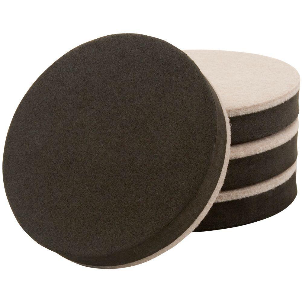 Charmant Felt Bottom Round Adhesive Slider (4 Per