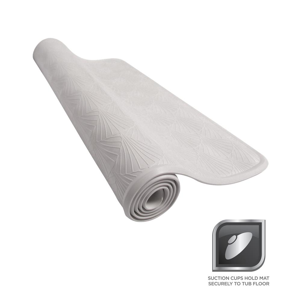Rubber Bath Mat In White 77wwhd