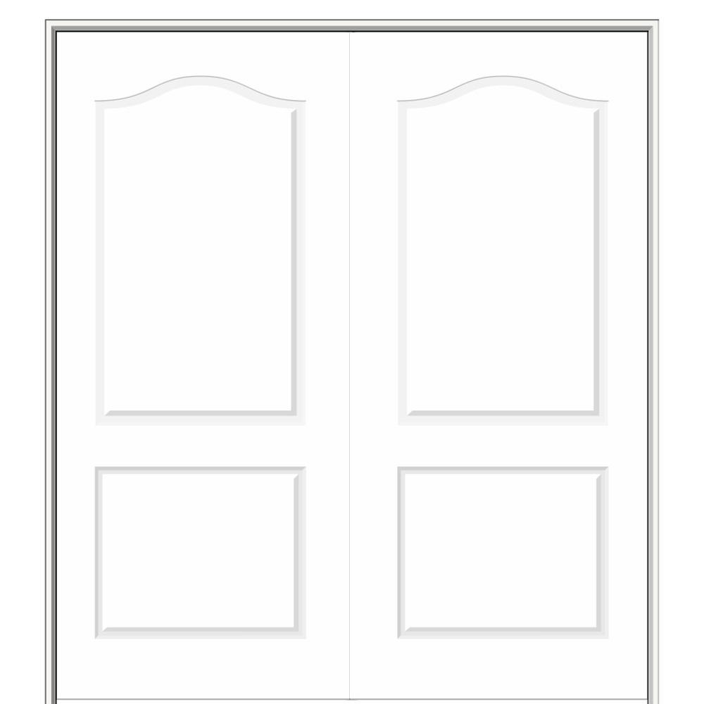 Mmi Door 60 In X 80 In Smooth Princeton Both Active Solid Core Primed Molded Composite Double Prehung Interior Door Z009496ba The Home Depot