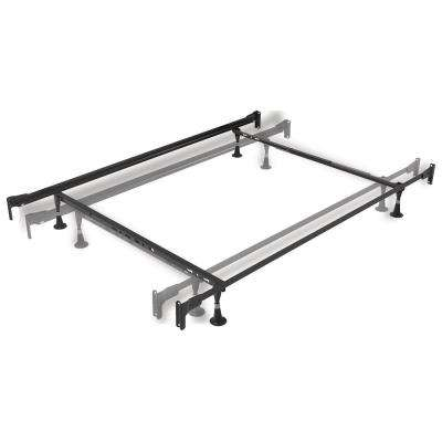 Twin and Full Steel Engineered Adjustable Bed Frame with Fixed Head and Food Panel Brackets and 4-Glide Legs