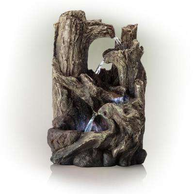 Tree Trunks Fountain with LED Light