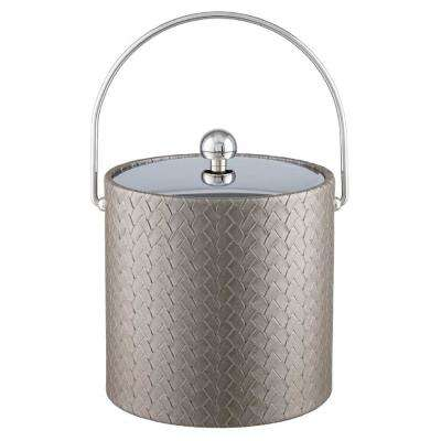 San Remo Silver 3 Qt. Ice Bucket with Bale Handle and Metal Lid