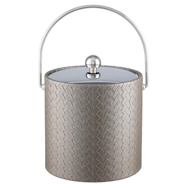 Kraftware San Remo Silver 3 Qt. Ice Bucket with Bale Handle