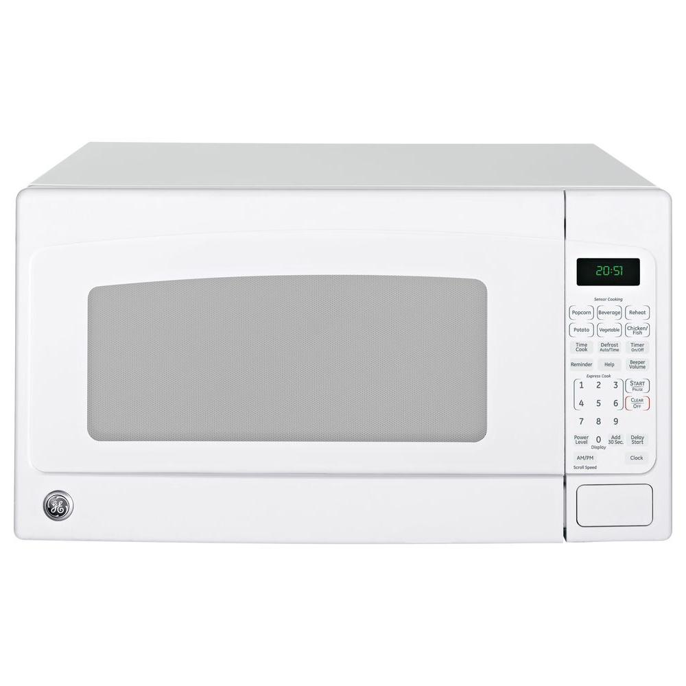 Ge 2 0 Cu Ft Countertop Microwave In White