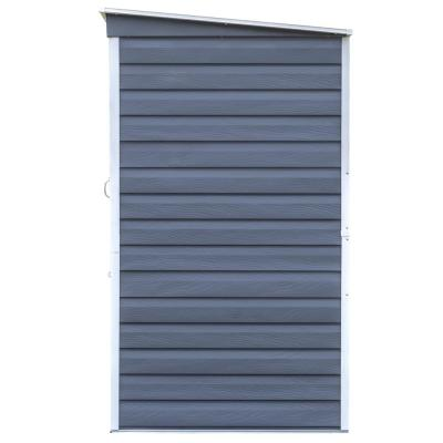 6 ft. W x 4 ft. D Shed-in-a-Box Charcoal/Cream Galvanized Steel Storage Shed with Locking Dutch Door