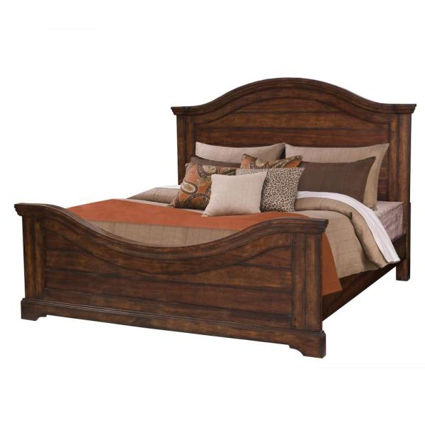 American Woodcrafters Stonebrook Tobacco King Panel Bed