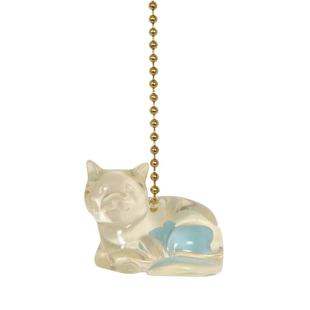 Mario Industries Acrylic Cat With Sea Blue Fish Fan Pull-DISCONTINUED