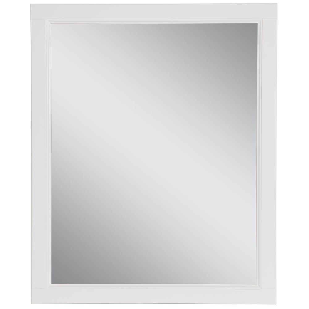 Home Decorators Collection Claxby 26 in. W x 31 in. H Framed Wall Mirror in White