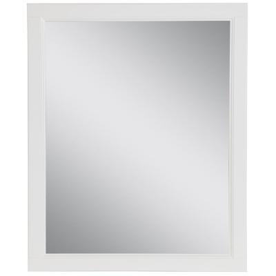 Claxby 26 in. W x 31 in. H Framed Wall Mirror in White