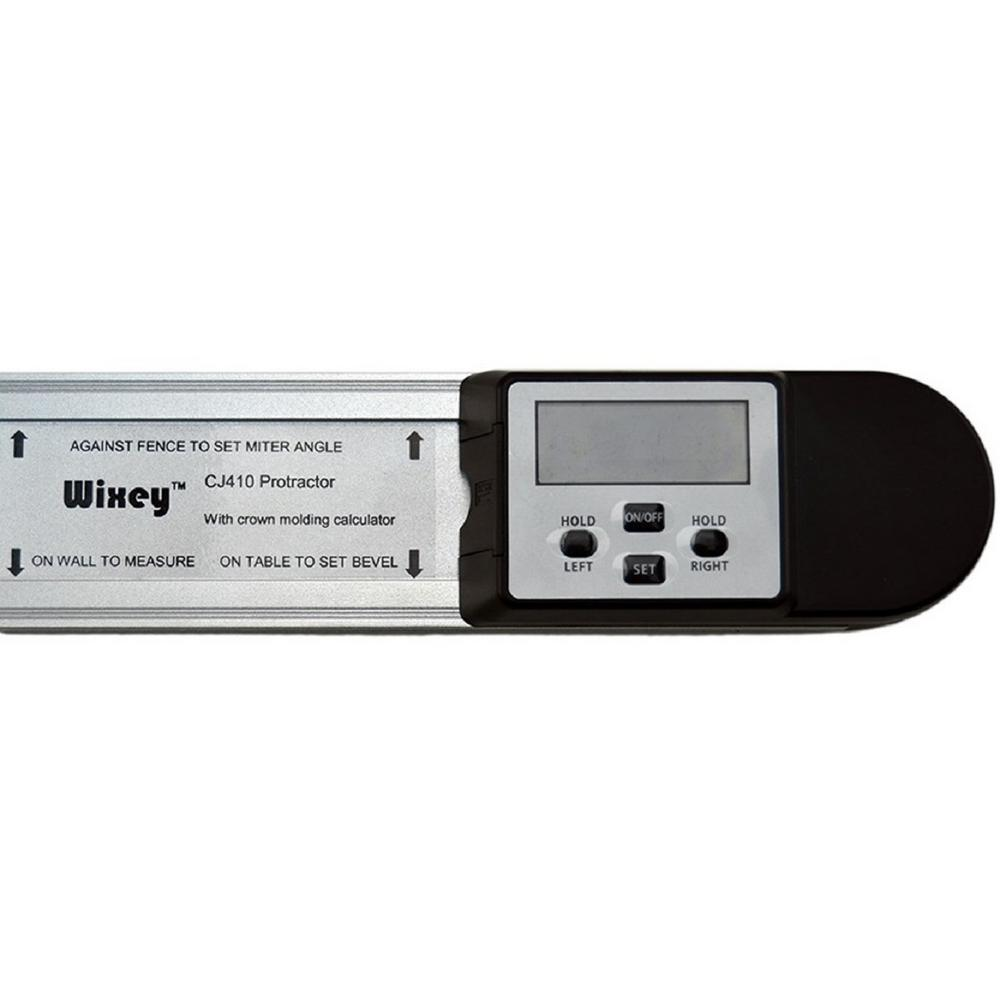 Wixey Digital Protractor with Crown Molding Calculator