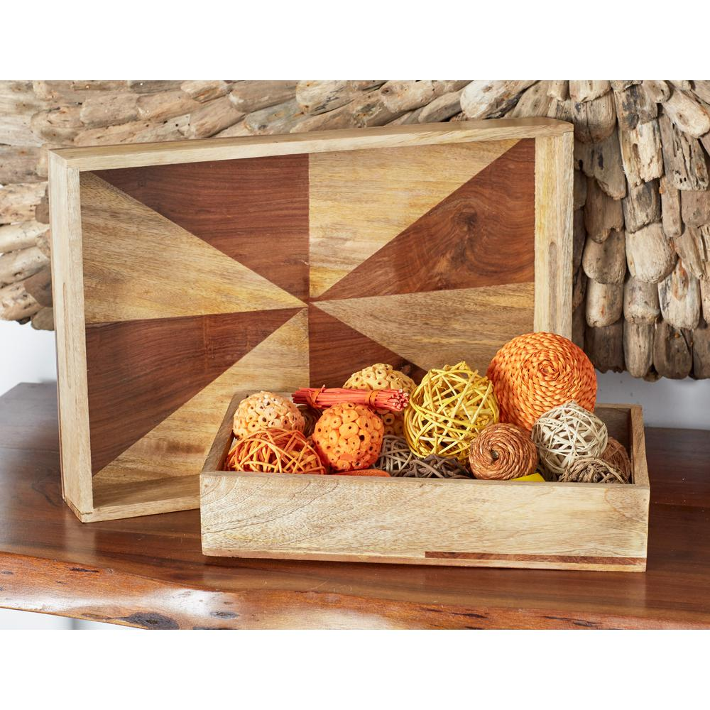 Multi-Colored Natural Plant Fiber Dried Decoration Bags (Set of 2)