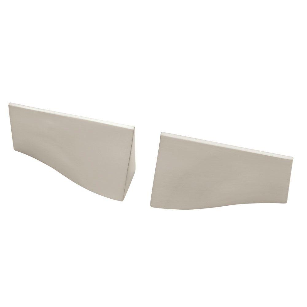 Liberty Geometrics 1-1/4 in. (32mm) Satin Nickel Waterfall Left and Right Cabinet Pull Set (1-Pair)
