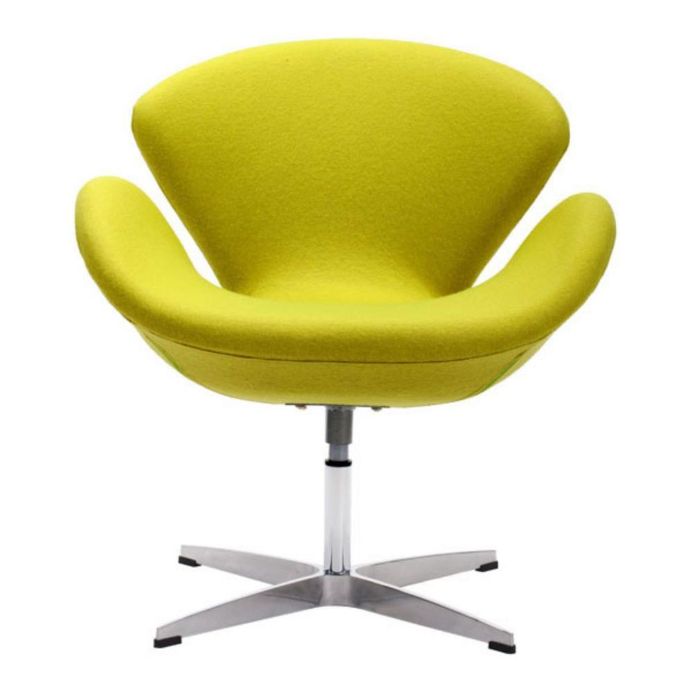 Julia Pistachio Green Polyblend Arm Chair