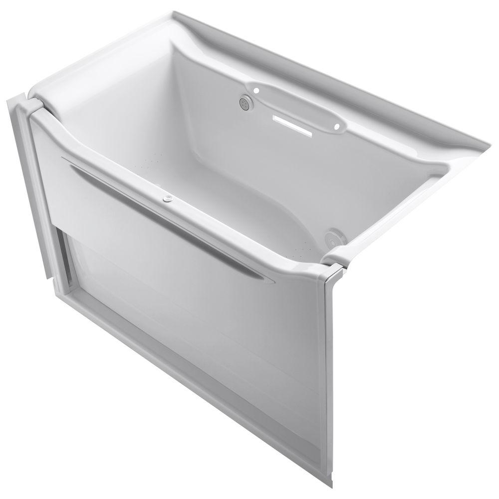 KOHLER Elevance 5 ft. Rectangle Whirlpool Bath Tub in White