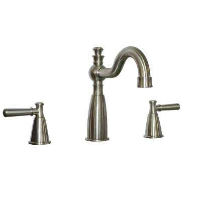 Artistry 2-Handle Deck-Mount Roman Tub Faucet in Satin Nickel