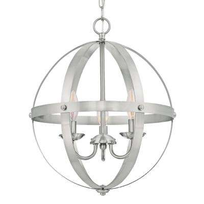 Brushed Nickel Cage Shade with 2-1/4 in. Fitter and 8-11/16 in. Width