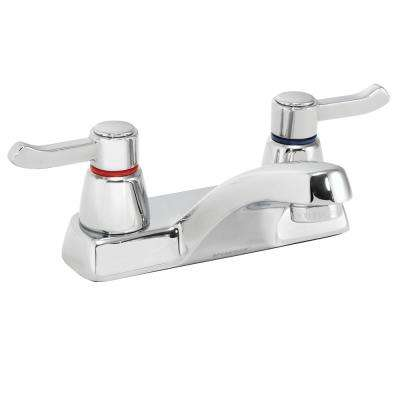 Commander 4 in. Centerset 2-Handle Lavatory Faucet in Polished Chrome