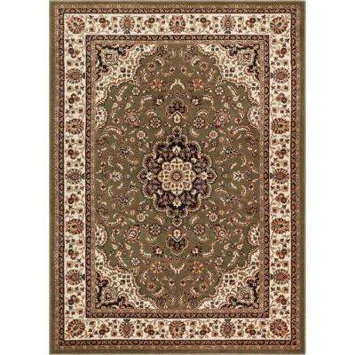 Barclay Medallion Kashan Green 9 ft. x 13 ft. Traditional Area Rug