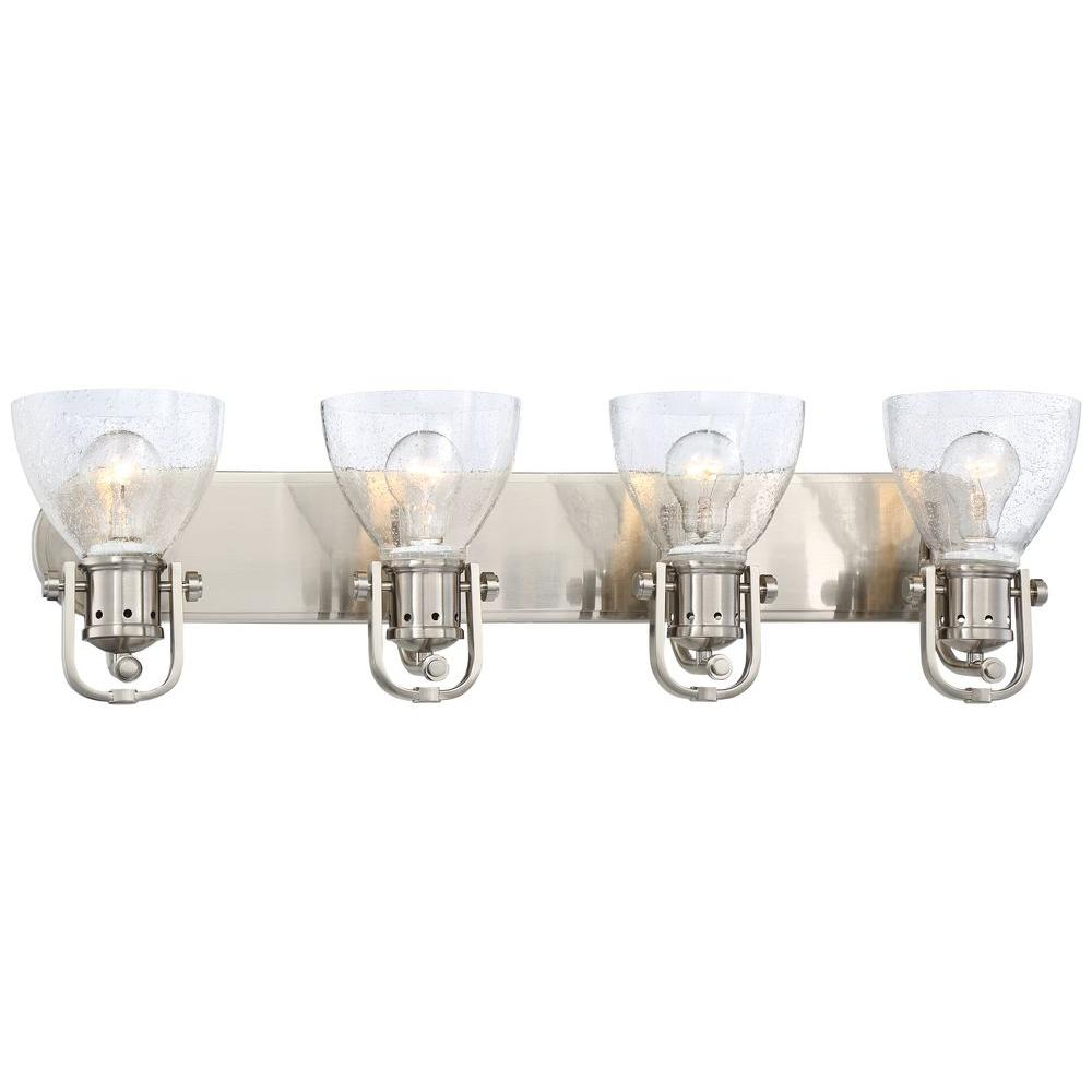 Minka Lavery Light Brushed Nickel Bath Light The Home Depot - Minka bathroom light fixtures