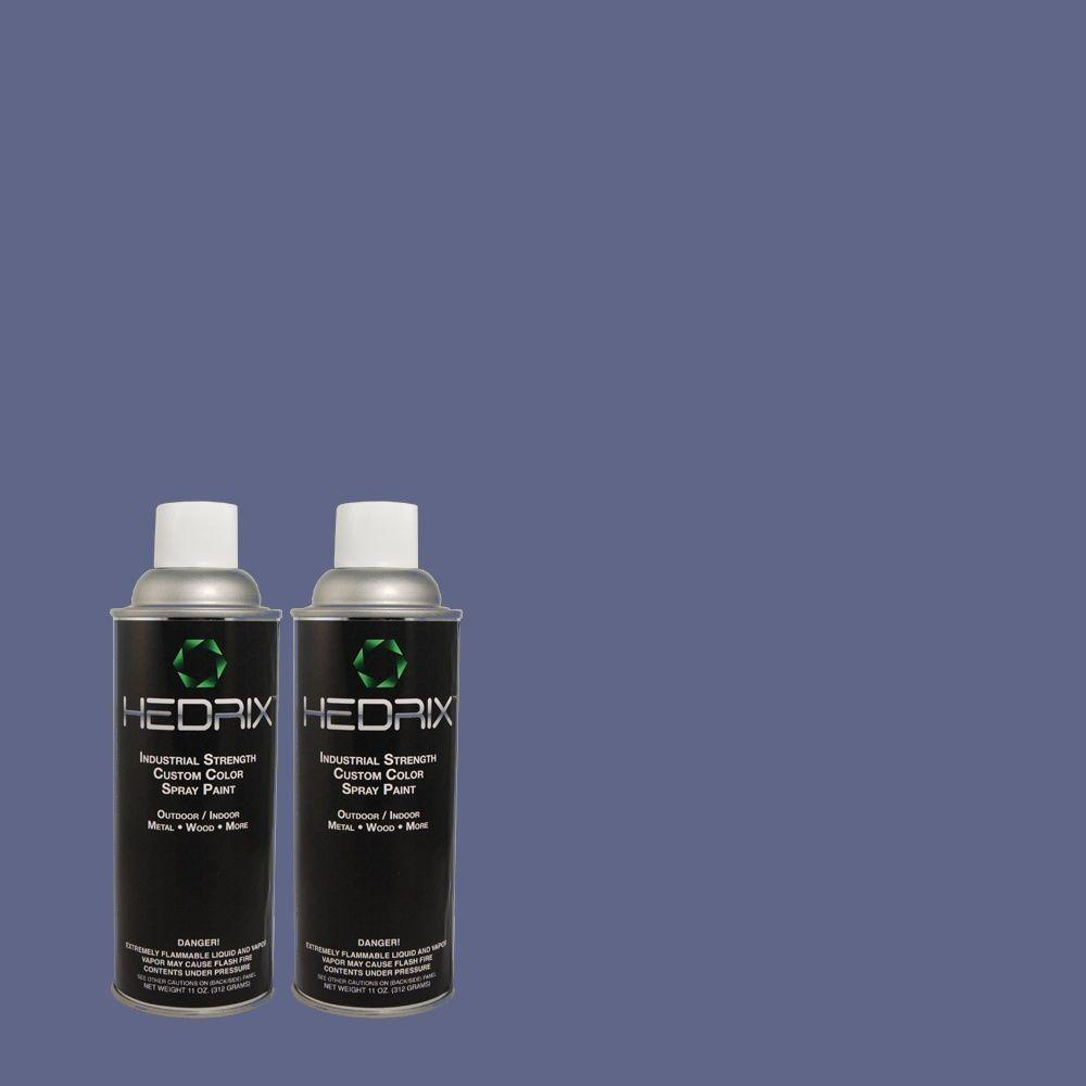 Hedrix 11 oz. Match of 5C16-3 Crown Jewel Gloss Custom Spray Paint (2-Pack)