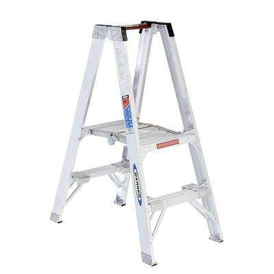 2 ft. Aluminum Platform Step Ladder with 300 lb. Load Capacity Type IA Duty Rating