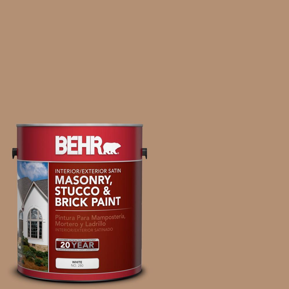 1 gal. #S240-5 Poncho Satin Interior/Exterior Masonry, Stucco and Brick Paint