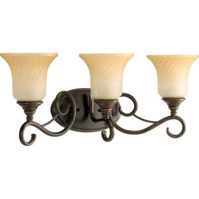 Kensington Collection 3-Light Forged Bronze Vanity Fixture