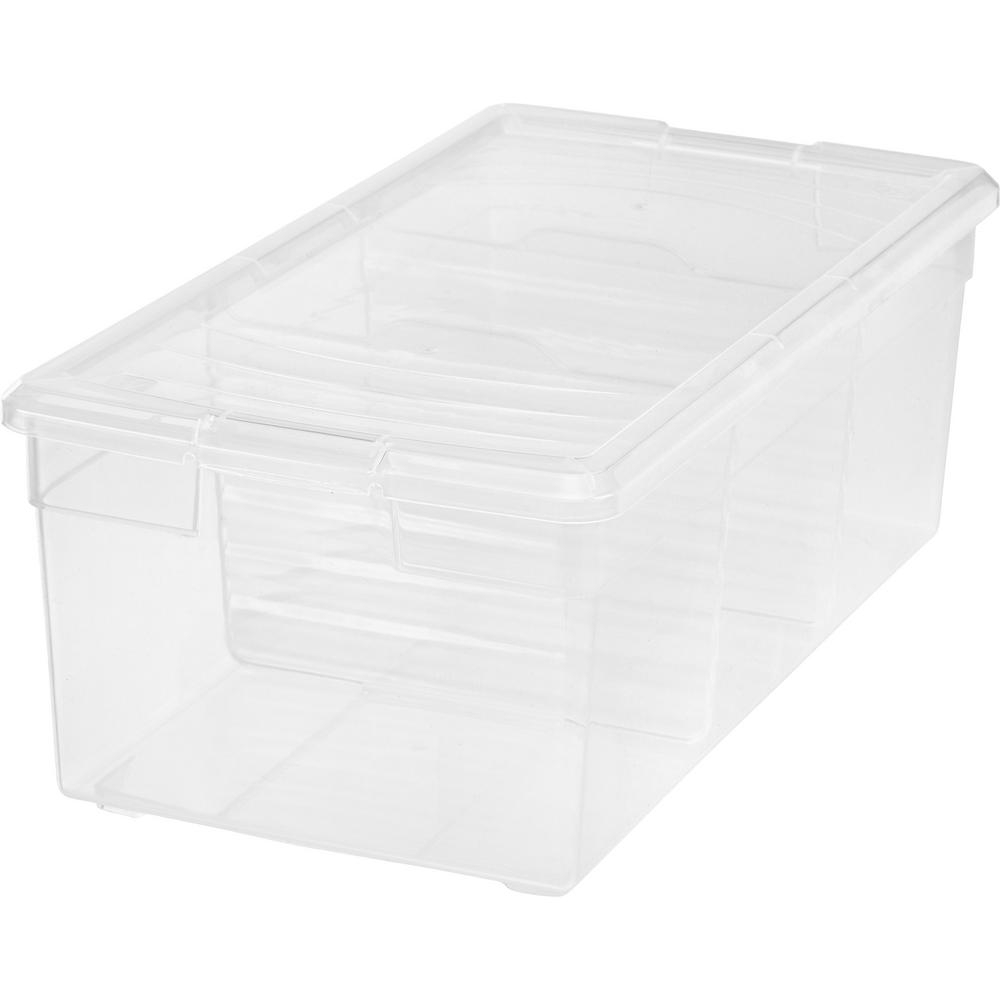 IRIS 17 Qt. Divided Storage Box in Clear