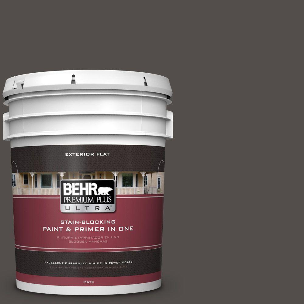 BEHR Premium Plus Ultra 5-gal. #790F-7 Dark Cavern Flat Exterior Paint