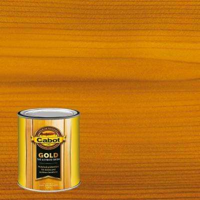 1 qt. Sun-Drenched Oak Gold Oil Exterior Deck Varnish