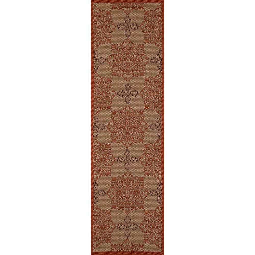 Art Carpet Plymouth Milan Red 2 Ft 7 In X 9 Ft Indoor