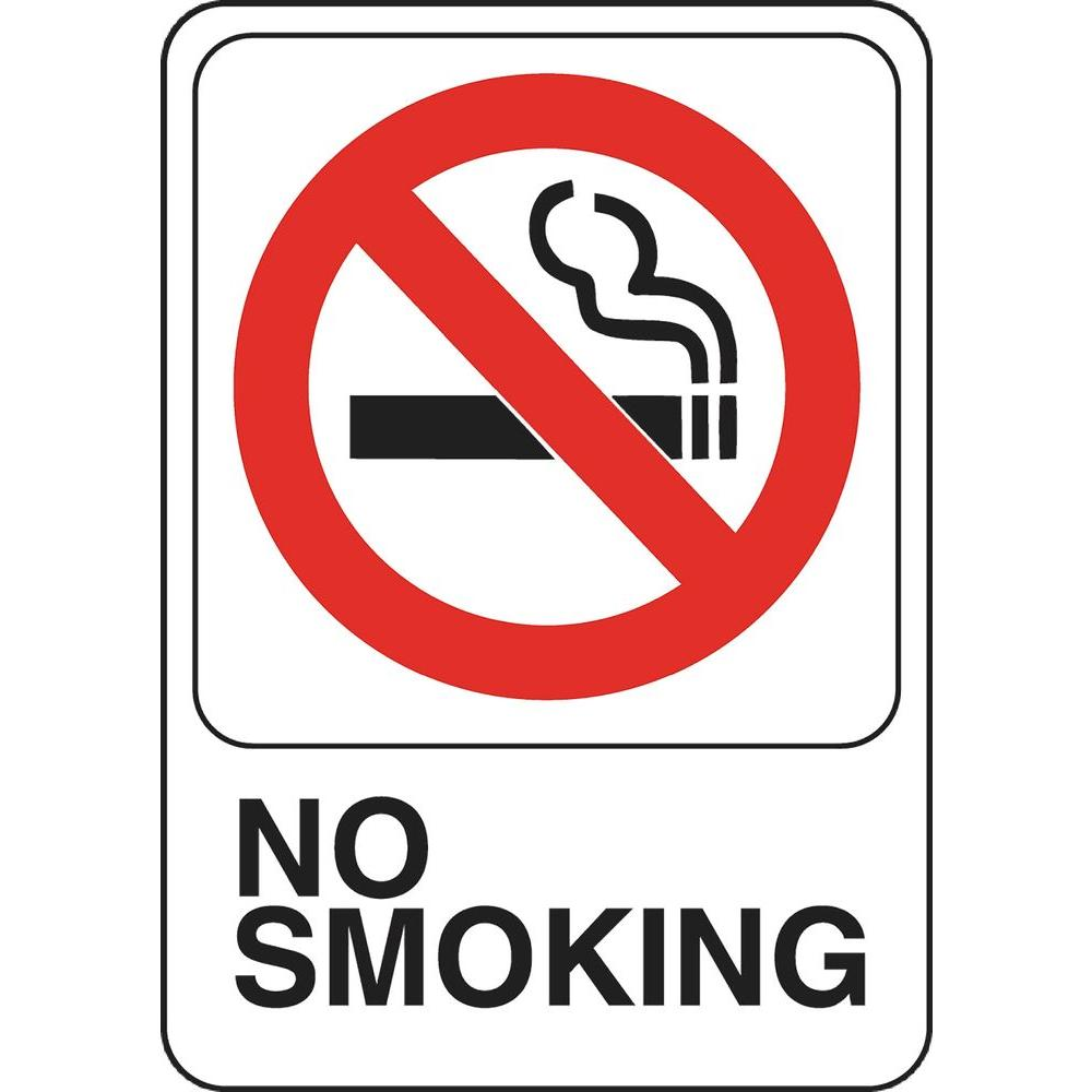 5 In X 7 In Plastic No Smoking Sign 841770 The Home Depot