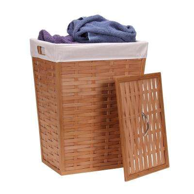 Hamper with Lid and Liner/Basketweave