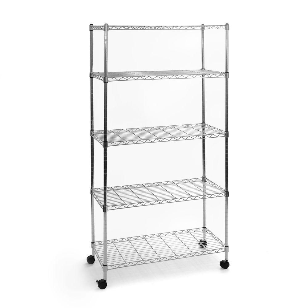 Wire Mesh Shelving | Seville Classics 5 Shelf 30 In X 14 In Home Wire Shelving System