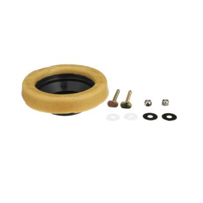 Reinforced Toilet Wax Ring with Plastic Horn and Zinc-Plated Toilet Bolts