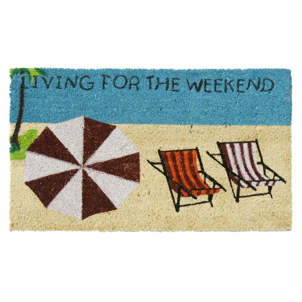 Attirant Rubber Cal Living For The Weekend 30 In. X 18 In. Beach Door