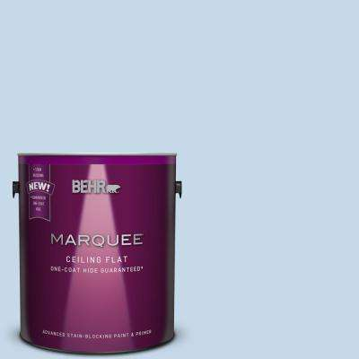 1 gal. #MQ3-24 Tinted to Celestial Light One-Coat Hide Flat Interior Ceiling Paint and Primer in One